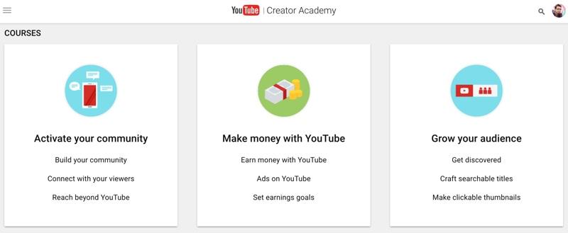 آکادمی خلاقیت یوتیوب